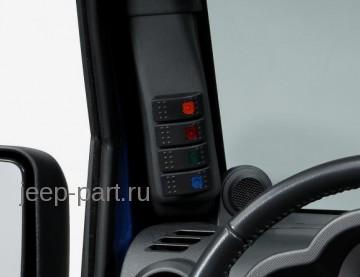 Панель с кнопками для дополнительного оборудования Jeep Wrangler JK