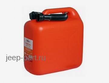 Канистра для топлива (10 л) пластмассовая с носиком