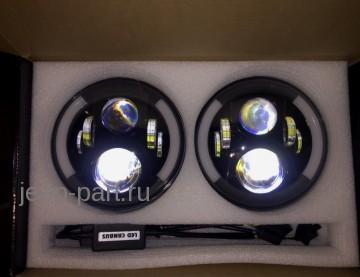 Комплект фар светодиодных аналог Speaker 8700 EVO 2 DRL Jeep Wrangler JK