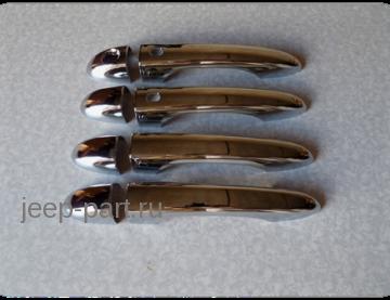Хромированные накладки на ручки двери для Jeep Cherokee KL 2014+
