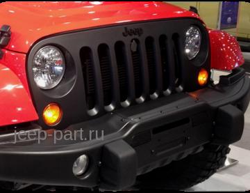 Решетка радиатора черная Jeep Wrangler JK 2-4D