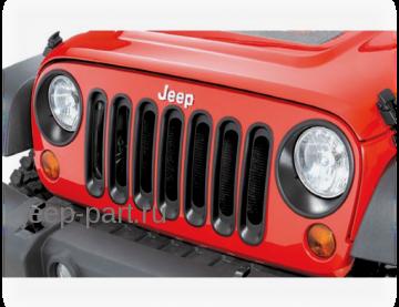 Окантовка фар черная Jeep Wrangler JK 2-4D
