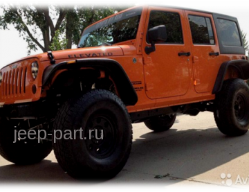 Расширители колесных арок только для 4-х дверных версий пластик ABS Jeep Wrangle