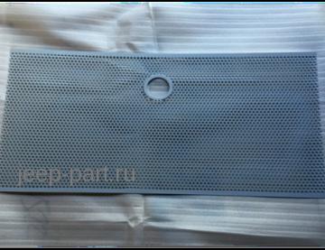 Защитная сетка радиатора с отверстием под замок капота (серый цвет) Jeep Wrangle