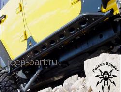 Пороги усиленные серые SPYDER  Jeep Wrangler  JK  4D