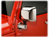 Накладки на зеркала хром Jeep Wrangler Unlimited JK 2-4D