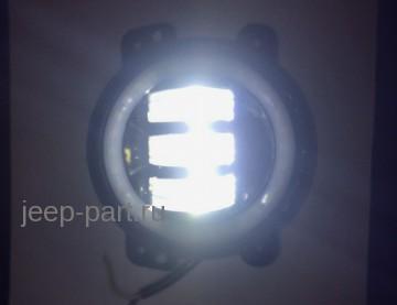 Противотуманные фары 2 шт. аналог Speaker 6145  с ангельскими глазками
