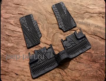 Комплект резиновых ковриков Jeep Wrangler Unlimited JK 4D