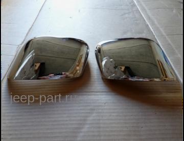 Накладки на верхнюю часть зеркал для Jeep Cherokee KL 2014+
