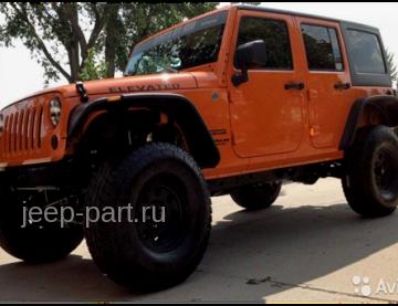 Расширители колесных арок только для 4-х дверных версий пластик ABS Jeep Wrangle