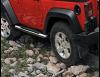 Пороги трубы хром  Jeep Wrangler  JK  2D